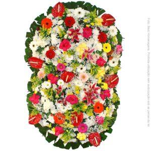 Coroa de Flores Suprema Colorida